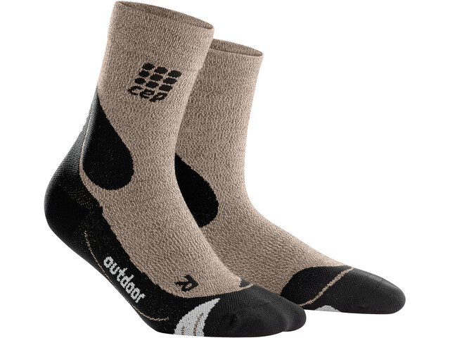 cep Dynamic+ Outdoor Merino Mid-Cut Socken Herren sand dune/black